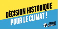 Décision historique pour la justice climatique